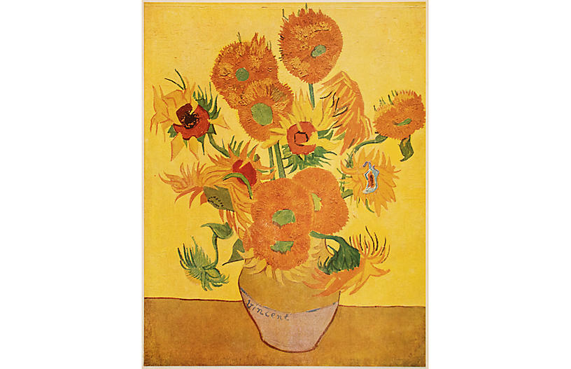 1947 Van Gogh, Sunflowers