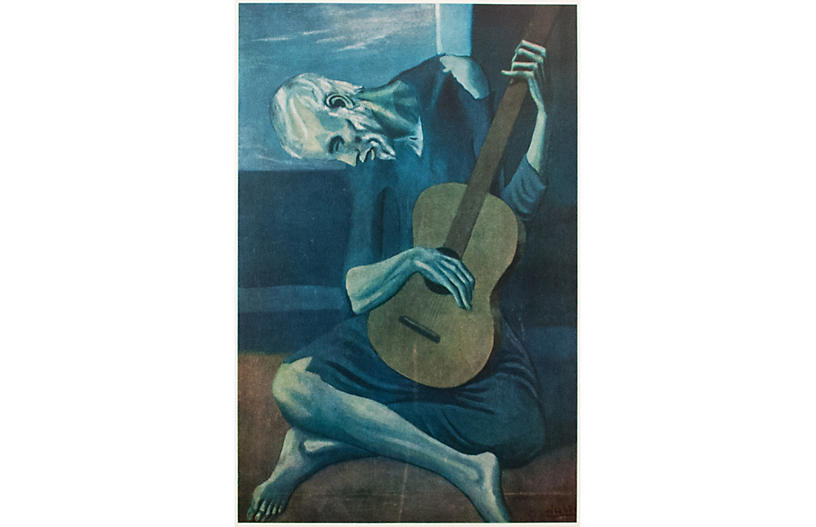 1954 Pablo Picasso, The Old Guitarist