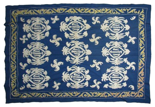 Blue & White Samarkand Suzani