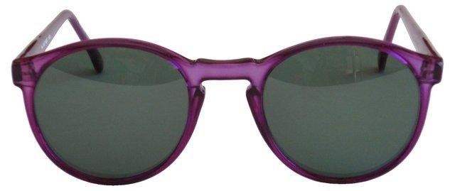 1980s Purple  Sunglasses