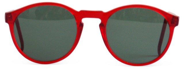 1980s Round Red Sunglasses