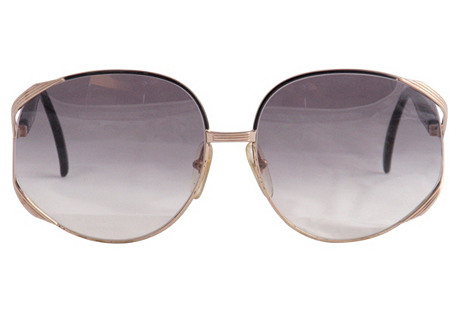 Christian Dior Black & Gold Sunglasses