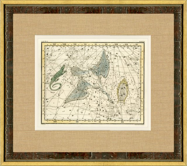 Cygnus Constellation Map, 1820