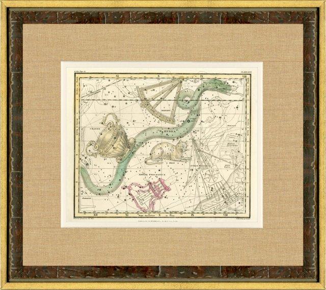 Hydra Constellation Map, 1822
