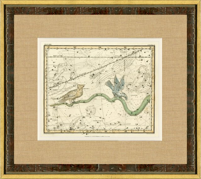 Hydra  Constellation Map, 1820
