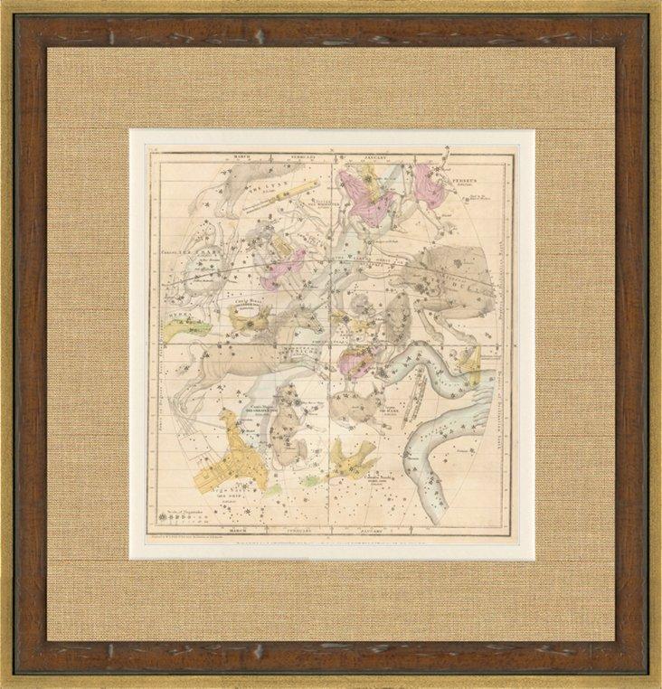 Constellation Map,   1835