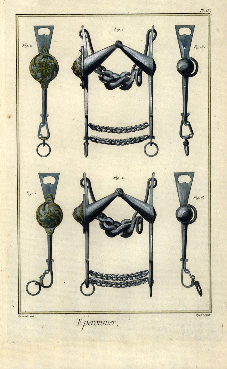 Horse  Tack Print , C. 1770