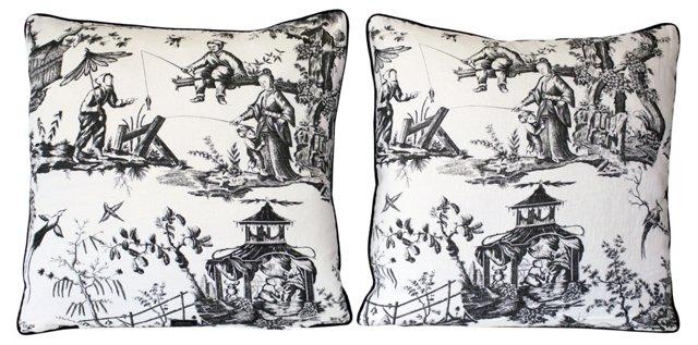 Chinoiserie Pillows, Pair