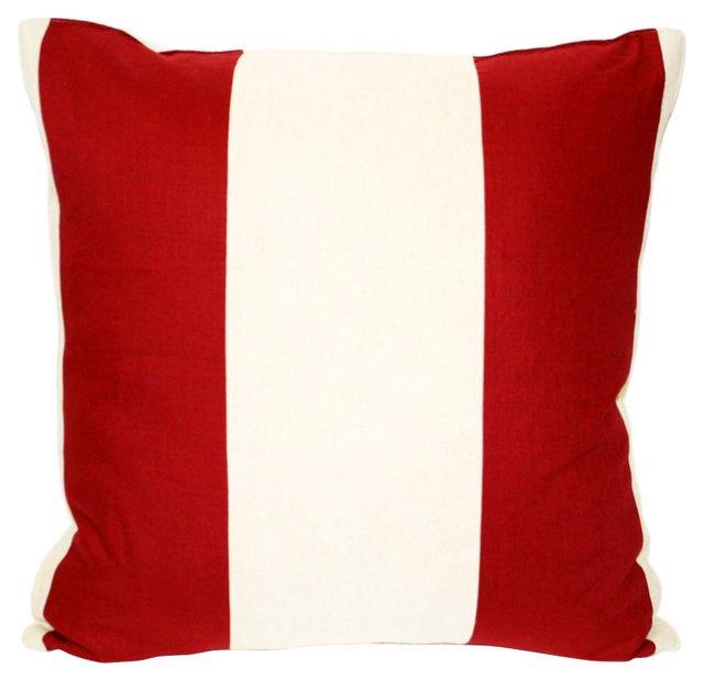 Pieced  Striped  Pillow