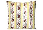 French Floral Ticking Pillow