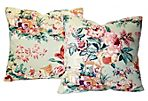 Chinoiserie Chintz Pillow, Pair