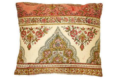 Paisley Textile Pillow