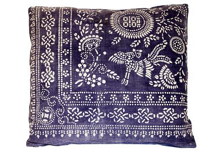 Hmong Bird & Floral  Pillow