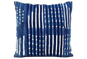 African Batik Indigo Pillow*