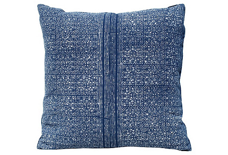 Batik Indigo Pattern Pillow