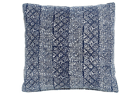 Hmong Indigo Batik Pattern Pillow