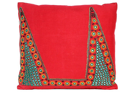 Shisha Mirrored Fabric Pillow