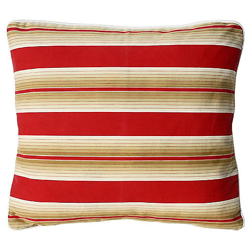 French Striped Pillow