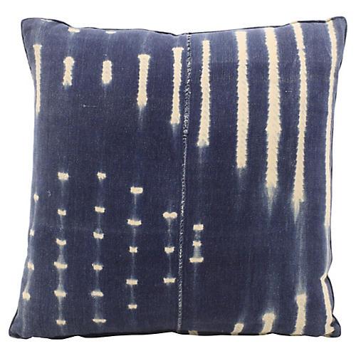 African Indigo Batik Pillow