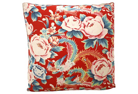 Chinese Birds Floral Pillow