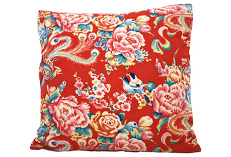 Chinese Floral Pillow