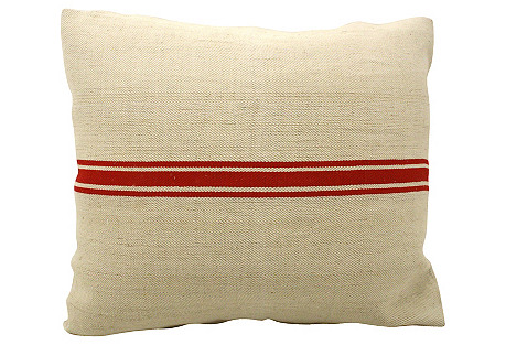 Flax Grain-Sack Pillow
