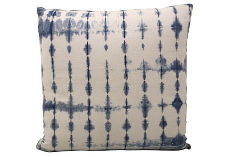 Shibori Indigo Pillow