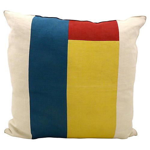 Linen Color-Block Pillow