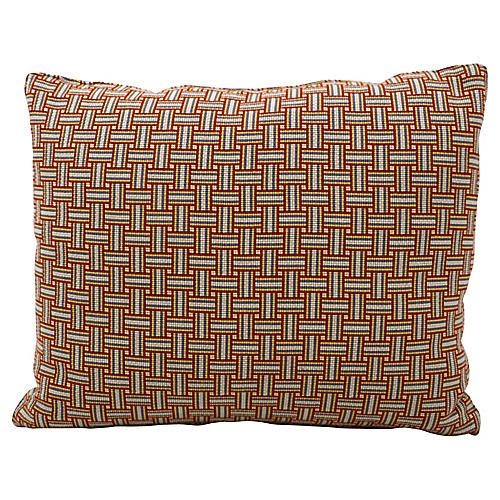 Geometric Basket Weave Pillow