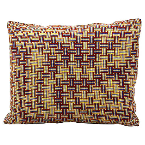 Geometric Basket Weave Pillow