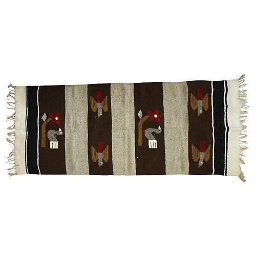 Vintage Mexican Bird Carpet