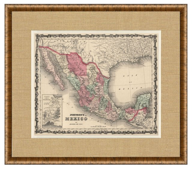 Map of Mexico, C. 1860