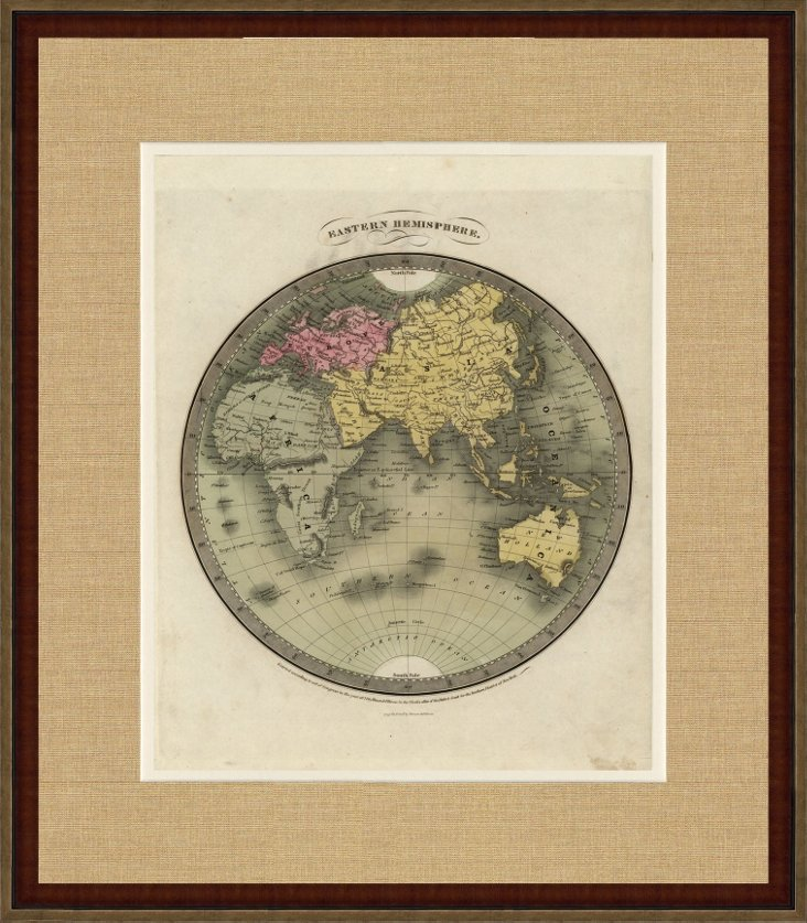 Map of the Eastern Hemisphere, C. 1835