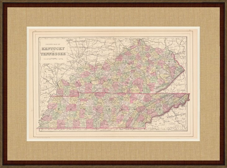 Map of KY & TN, C. 1885