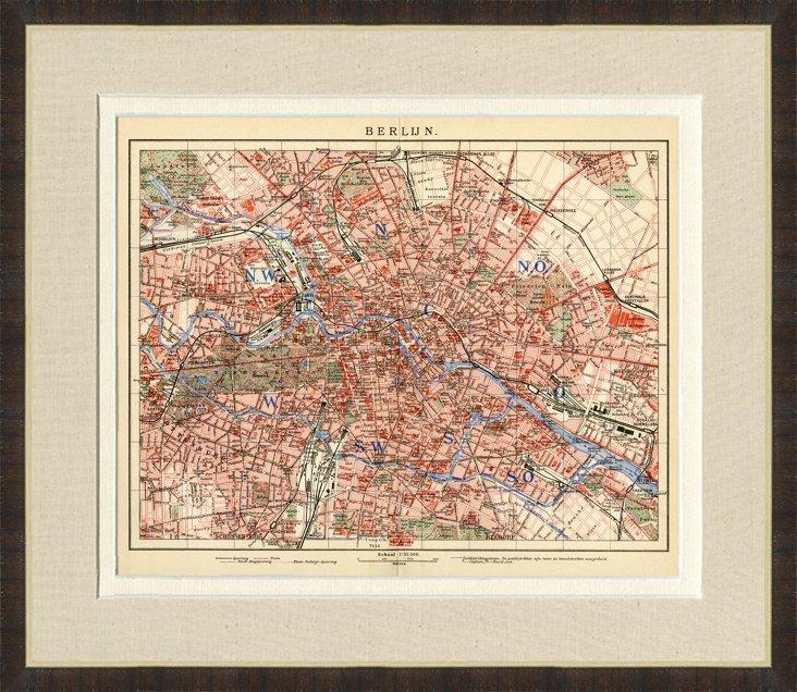 1890s Map of  Berlin
