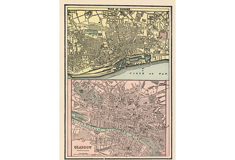 Glasgow & Dundee Map