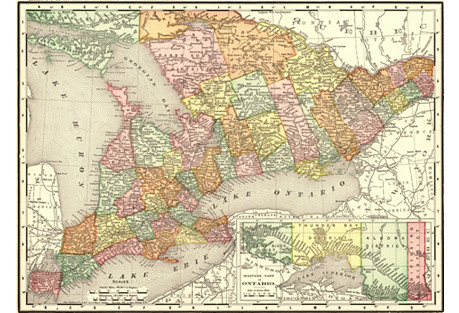 Map of Ontario,  C. 1895