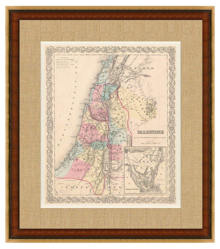 Map of Palestine, 1856