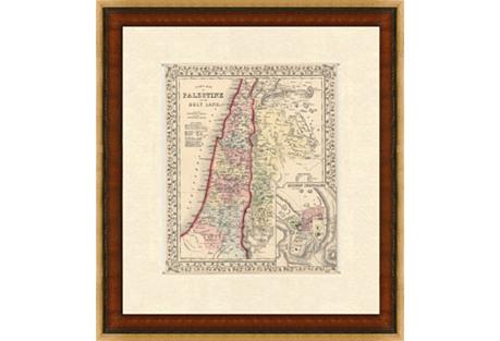 Map of  Palestine,    1860