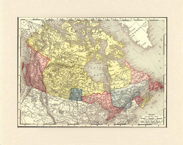 Map of British N. America, C. 1895