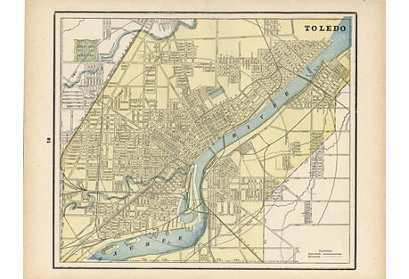 Map of Toledo, C. 1900