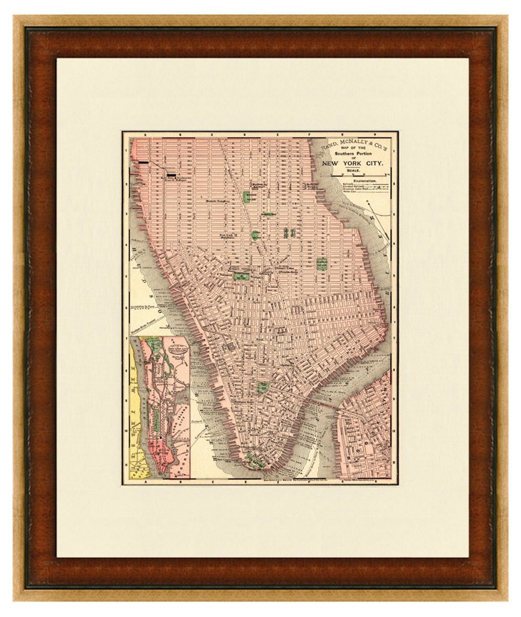 Map of NYC, 1898