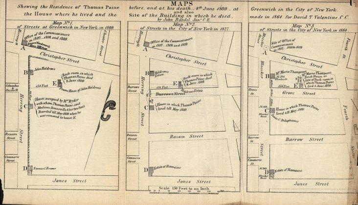 Residences of Thomas Paine, 1864