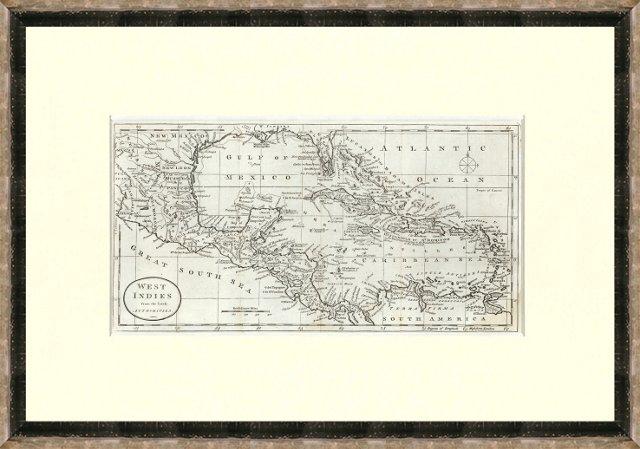 Antique West Indies Map, 1788