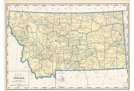 Map of Montana, 1931