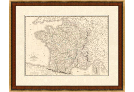 Map of France, 1820