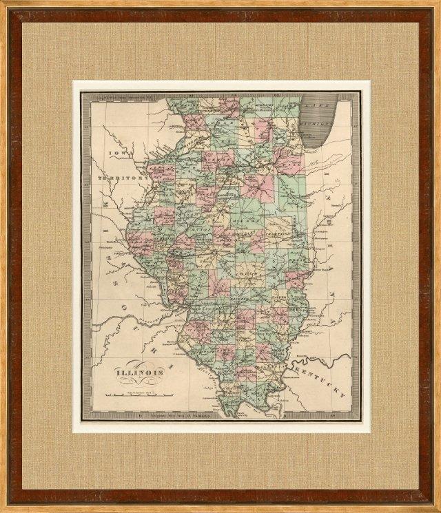 Map of Illinois, 1842