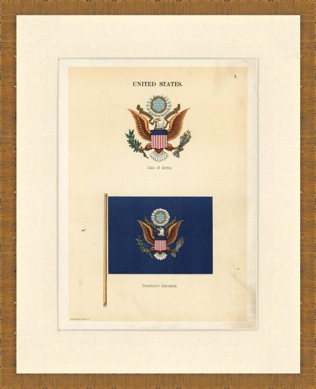 U.S. Maritime Flag Print,  1899