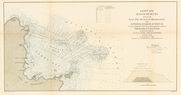 Map of Sandy Bay, MA, 1892