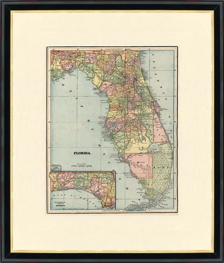 1900s Map of Florida